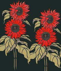 Sunflower Stencil Designs Artwork By Henny Donovan For The Large Sunflower Stencil