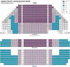 Virginia Theater Seating Chart Ticket Prices Seating Huntington Theatre Company