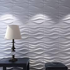 3d mur panneaux de fibers v g tales blanc pour int rieur d cor 12 pcs 32 sq ft on wall art l 3d wall decor panels with 3d leather wall sticker peel and stick tiles faux leather wall