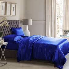 royal blue silk duvet cover