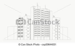 architectural drawings of skyscrapers. Wonderful Skyscrapers City Architecture Illustration With Architectural Drawings Of Skyscrapers