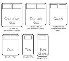 Mattress Size Comparison Chart California King Mattress Size Comparison California King Bed
