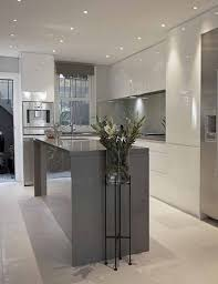contemporary kitchen colors. Gloss Laminate Cupboards Gray Wood Kitchen Cabinets Blue Grey High With Island Contemporary Colors