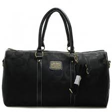 Coach Bleecker Monogram In Signature Large Black Luggage Bags 079