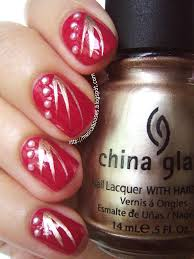 Chinese New Year Nail Art: Red, Gold, and Pearls (Just a Bit ...