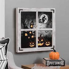 <b>Halloween LED Scene</b> Windowpane Wall Plaque | Kirklands