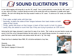Example Speech Interesting FREE R Sound Elicitation Tips Using Sounds Words Speech
