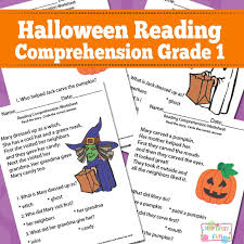 Halloween Reading Comprehension Worksheets for 1st Grade - Itsy ...