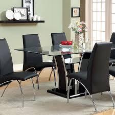 glenview black high gloss dining table set
