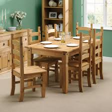 Pine Kitchen Table And Chairs Corona Mexican Pine 152cm Dining Table With 6 Chairs Including
