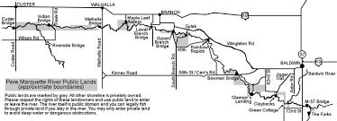 Pere Marquette River Hatch Chart Pere Marquette River Map Trails To Trout