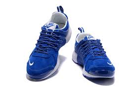 nike presto leather low top men s autumn winter running casual sports shoes royal blue white