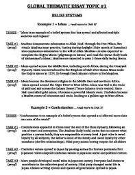 global history thematic essay global history regents thematic essay geography global history