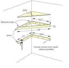 corner wall shelf diy floating shelves plans building a