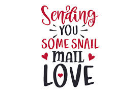 These svg images were created by modifying the images of pixabay. Sending You Some Snail Mail Love Svg Cut File By Creative Fabrica Crafts Creative Fabrica
