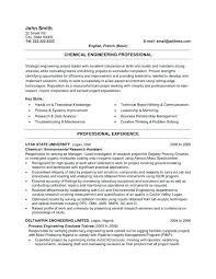 Resume Templates For Engineers Resume Web
