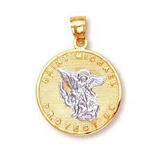 14k gold saint michael medal protection