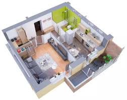 Modern Apartments And Houses D Floor Plans Different Models - Small apartment floor plans 3d