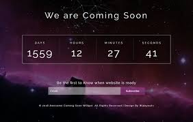 Coming Soon Website Template New Awesome Coming Soon Widget Flat Responsive Widget Template