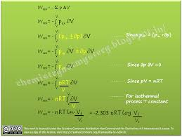 calculations of reversible work done