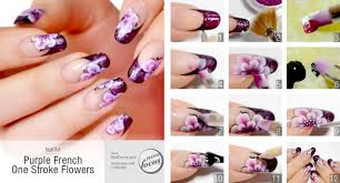 Purple French One Stroke Flowers - Now Focus | Iveta | Pinterest ...