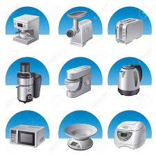 Small Kitchen Appliances Small Kitchen Appliances Icon Set Royalty Free Cliparts Vectors
