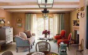 english country living room furniture. Unique English English Country Living Room Furniture Arrangement Ideas With Green Gingham  Curtain And Warm Wall Color Intended