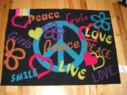 rugs for teenage bedrooms. girls bedroom decor peace signs live laugh love throw rug teen room hearts flowers:amazon rugs for teenage bedrooms