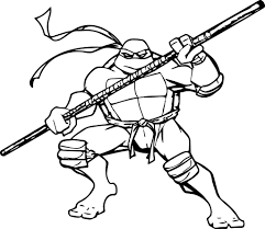 Small Picture Coloring Pages Of Ninja Turtles Nickelodeon Leonardo Coloring