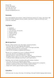 7 database administrator resume agenda example