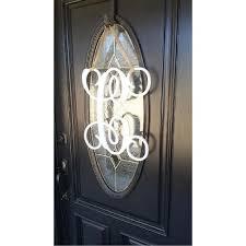 home housewares outdoors wooden vine monogram single letter