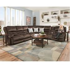 high back sectional sofas. Brown Reclining Sectional Power Recline Lumbar Support USB Charging Port High Back Sofas B