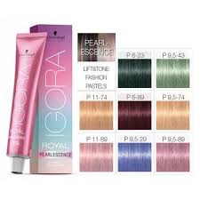 Igora Color Chart Details About Schwarzkopf Igora Royal Pearlescence 60ml All Colours
