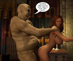 Hot 3D blowjob with a pretty Elven princess and a human