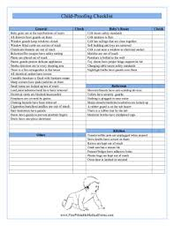 Medical Form In Pdf Printable Childproofing Checklist