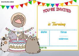 Birthday Invitations Printable Free Printable Pusheen Birthday Invitation Template Free Printable
