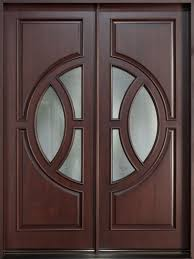 front double doorsModern Front Door Custom  Double  Solid Wood with Dark Mahogany