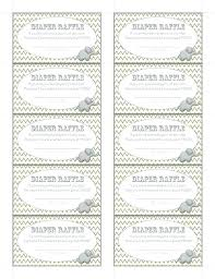 Template For A Raffle Ticket Free Printable Elephant Diaper Raffle Ticket Template