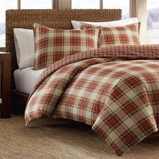 duvet ed bauer edgewood plaid duvet cover set king red