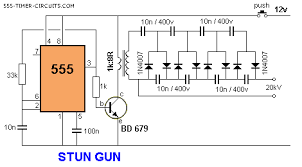 transformer for 555 taser gun taser 20kv 20ma guns so basically i m going to create a 555 based taser somewhere about output input is or in series found this schematic on