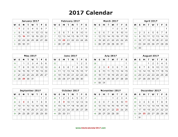 yearly calendar 2017 template blank calendar 2017