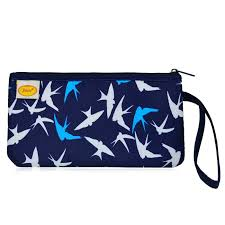 Zip Top Satin Quilted Wristlet, BLUE/WHITE in Clutch Bags ... & Zip Top Satin Quilted Wristlet - BLUE/WHITE Adamdwight.com