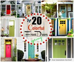 colored front doors20 colorful front door colors  Four Generations One Roof