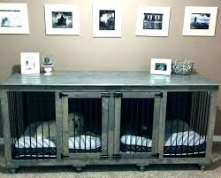 wood dog kennel furniture indoor wooden double crate dual that eye best crates diy