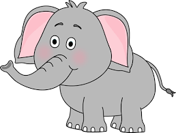 cute elephant clipart. Perfect Clipart Cute Elephant Clip Art Image  Cute Elephant With Its Trunk Up For Clipart P