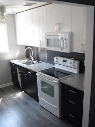 Kitchen Laminate Flooring Kitchen Reno Ikea Applad And Gnosjo Cabinets With Salt Pepper