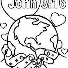 John 3 16 Coloring Pages Coloring