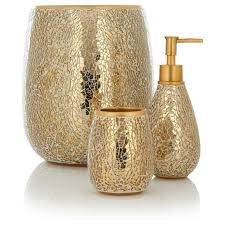 Gold Bathroom Decoration Ideas White And Gold Bathroom Accessories White And