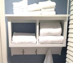 wall mounted towel storage shelves for towels white stained wooden rack with hanging paper w