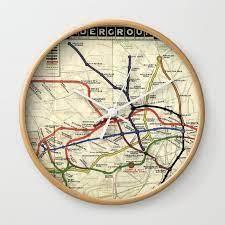 london underground 1908 wall clock by